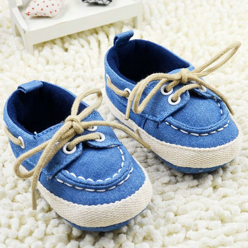 Spring Autumn Toddler First Walker Baby Shoes Soft Sole Crib Laces Sneaker Prewalker Sapatos