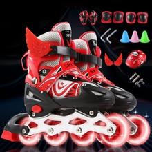 Inline Roller Skate Shoes Skates Kids Adult Roller Skating Shoes Sliding Skate Patins Sneakers Rollers Adjustable Wheels Shoes