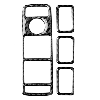 Car Inner Carbon Fiber Window Lift Button Frame Trim for Mercedes-Benz W204 W212 A/B/C/E Cl GLE GLA ML GL image