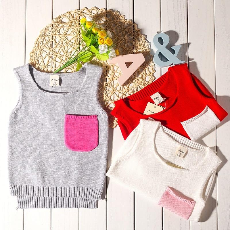 Childrenswear Kids' Sweater 2019 Autumn And Winter New Style Sweater GIRL'S Knitted Shirt Kids' Sweater Waistcoat CHILDREN'S Swe