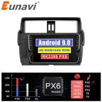 Eunavi 2 din car radio stereo for Toyota Land Cruiser Prado 150 2014 2017 Android 9 2din multimedia GPS Navigation IPS no cd dvd