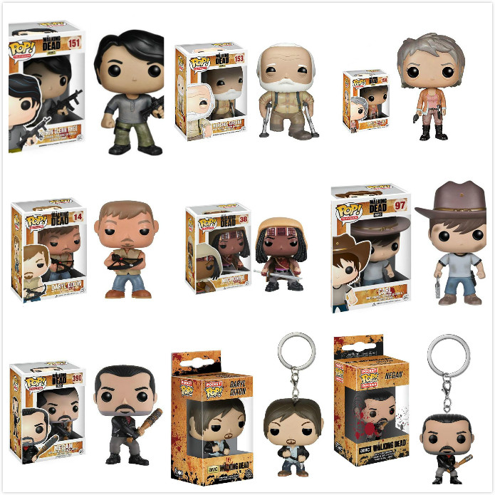 Funko Pop Anime The Walking Dead Action Figure Boy Movie Collection Model Kids Toys For Children