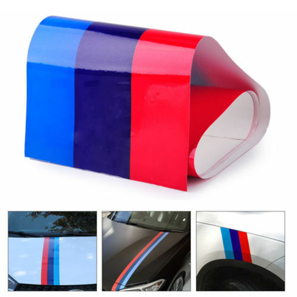 M Color Check Flag Body Sticker Decal Stripe For BMW Z4