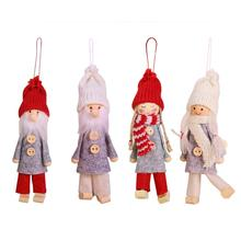 New Christmas Ornaments Cartoon Doll Pendant Retro Forest Man Europe And America Style No Face Accessories