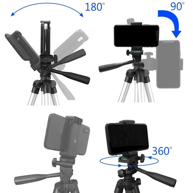 26cm Photo Ringlight Led Selfie Ring Light Phone Bluetooth Remote Lamp Photography Lighting Tripod Holder Youtube Video 2