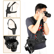 SK MSP01 Camera Vest Multi Camera Carrier Waist Strap Belt Carrier Harness Holster System Soft Padded Strap Photographer Vest