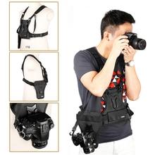 SK MSP01 Kamera Weste Multi Kamera Träger Taille Strap Gürtel Träger Harness Holster System Weichen Padded Strap Fotograf Weste