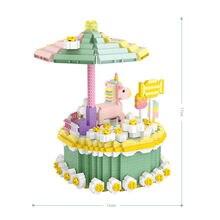 Восхитительные леденцы торты микро Алмазный Блок модель единорога