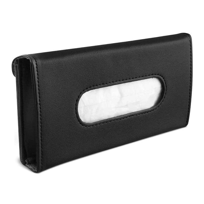 Car Tissue Holder Visor Napkin Case - Leather Vehicle Backseat Door Tissue Holder Car Hanging Towel Paper Tissues Box