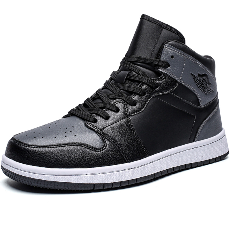Leather Men Brand Superstar Fashion Sneakers Men Casual Shoes Zapatillas Hombre Male Flats Shoes Mens High Top Boots Rubbr White