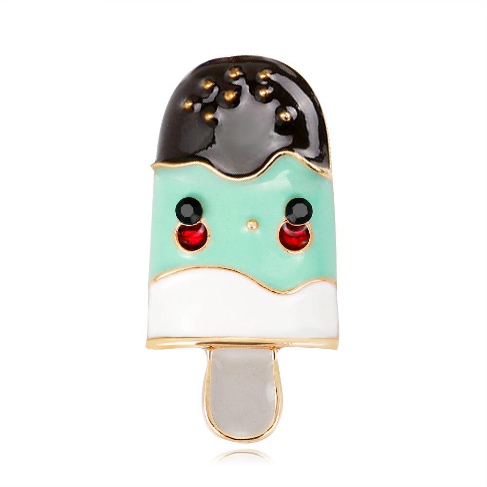 Pins Enamel Pin Ice Cream Alloy Cute Exquisite Luxury Girl Women Gift Drop Creative Brooch Przypinki Broszka 2019 New Hot Sale