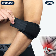 2Pcs Compression Elbow Brace Support Straps with GEL Pad & Adjustable Band for Tennis Golfer Relieve Tendonitis and Forearm Pain