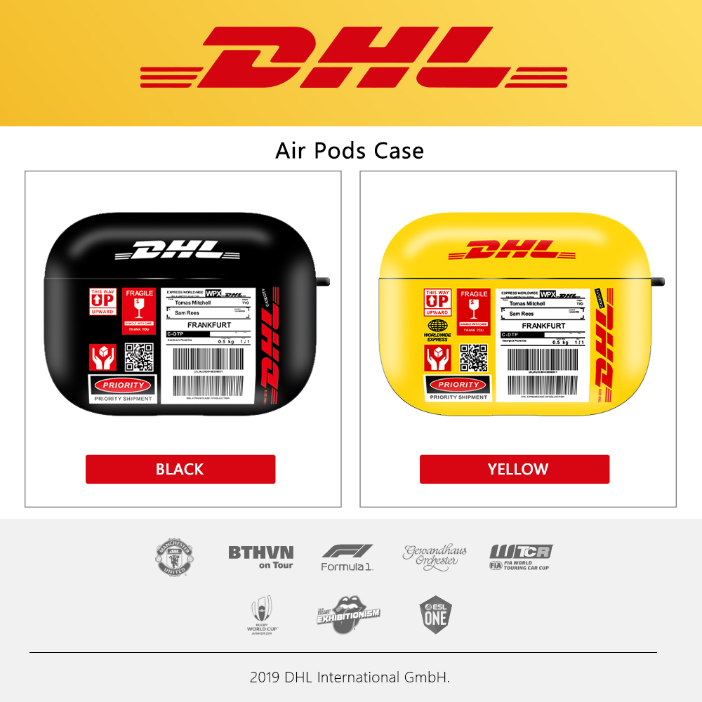 DHL Express 50th Anniversary Edition Label Wireless Bluetooth Earphone Headset Case For Airpods 1 2 Pro Air Pods Pro 1 2 3 Cover
