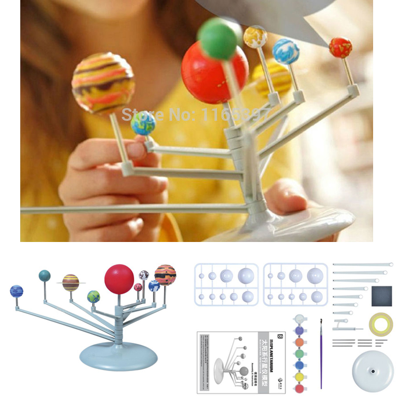 Teenager Children Kids Scientific Science Educational Models Experimental Toy Materials DIY Assembling Solar System Planet ARIUM