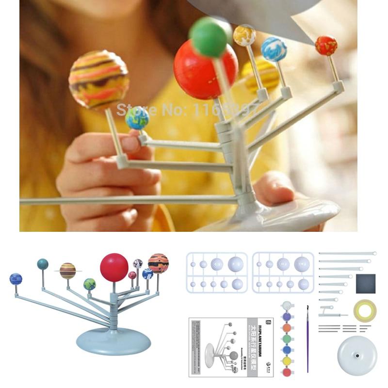 Teenager Children Kids Scientific Science Educational Models Experimental Toy Materials DIY Assembling Solar System Planet ARIUM