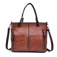 2019 New Women Casual Tote Bag Simple Leather Handbags Luxury Female Large Capacity Shoulder For Daily Shopping Handbag Sac