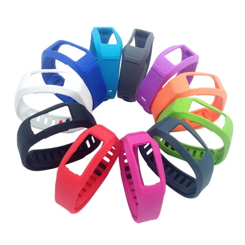 2 OOTDTY Silicone Watch Strap Banda Substituição Para Garmin vivofit Inteligente Relógio Pulseira