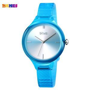 Image 2 - SKMEI נשים שעונים יוקרה למעלה מותגים פשוט קוורץ שעון יד אופנה נשי ילדה שעון Relogio Feminino גבירותיי שעוני יד