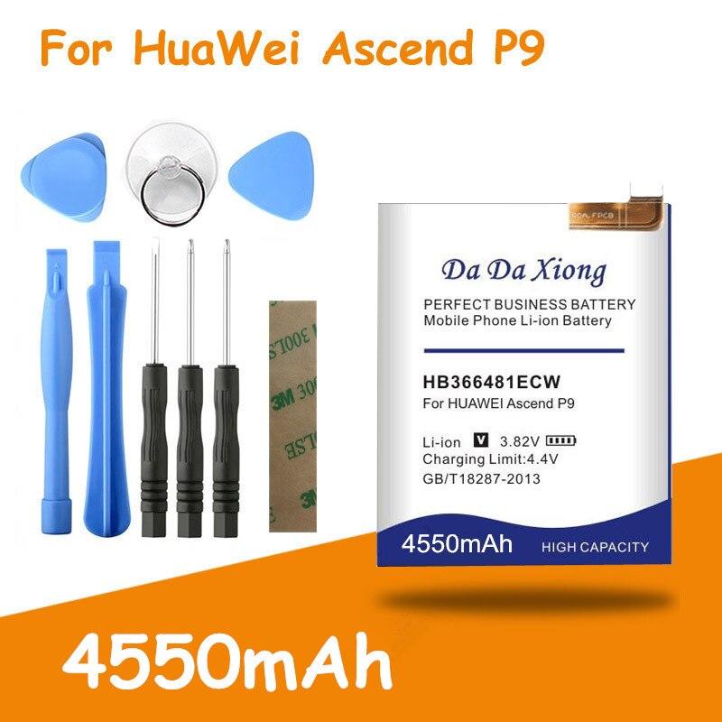 4550 mah hb366481ecw bateria para huawei p9 bateria EVA-AL00 al10 EVA-TL00 EVA-L19 para huawei g9 lite honra 8 para huawei 5c