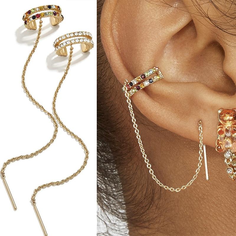 1Pc Cz Ear Cuff No Piercing Conch Cuff Earring PIercing Helix Cartilage Conch Fake Piercing Jewelry Adjustable