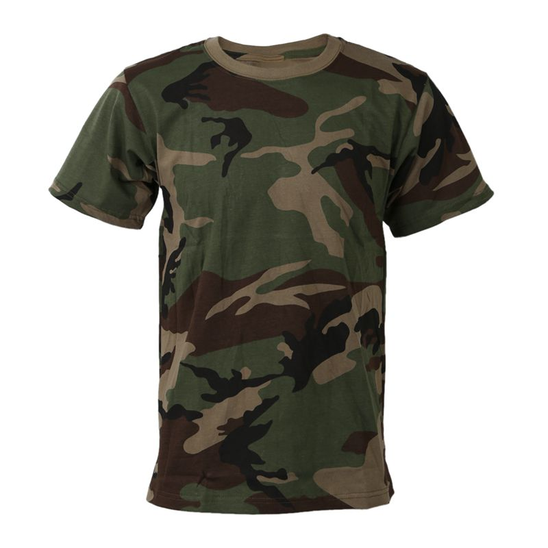 Summer Outdoors Hunting Camouflage T-shirt Men Breathable Combat T Shirt Dry Sport Camo Outdoor Camp Tees JG M