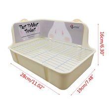 Pet Hamster Rabbit Toilet Litter Corner Trays  Indoor Clean for Small Pets 35ED