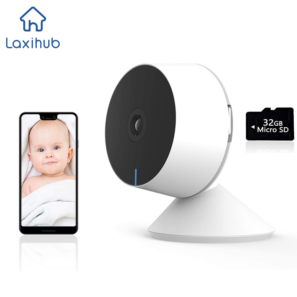 1080P IP Webcam Wifi Mini Indoor for Home/Pet Security Cameras Wireless Baby Monitor & Cloud Kamera Detection 32G SD Card