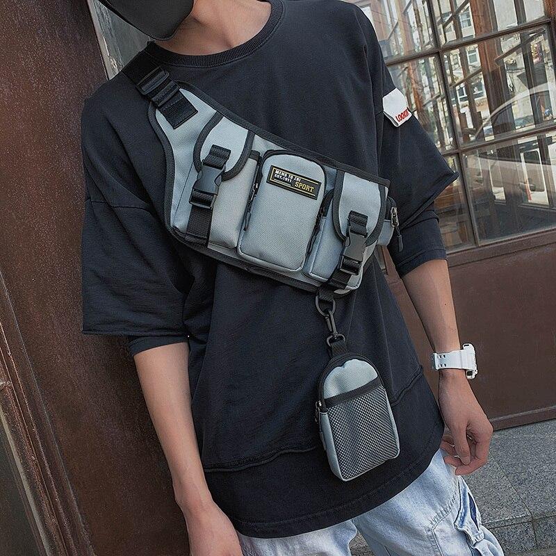 2019 крутая уличная сумка на талию для мужчин и женщин, сетчатая тактическая посылка С 5 Карманами, поясная сумка в стиле хип-хоп