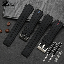 Silicone rubber watchband for timex Watch strap T2N720 T2N72