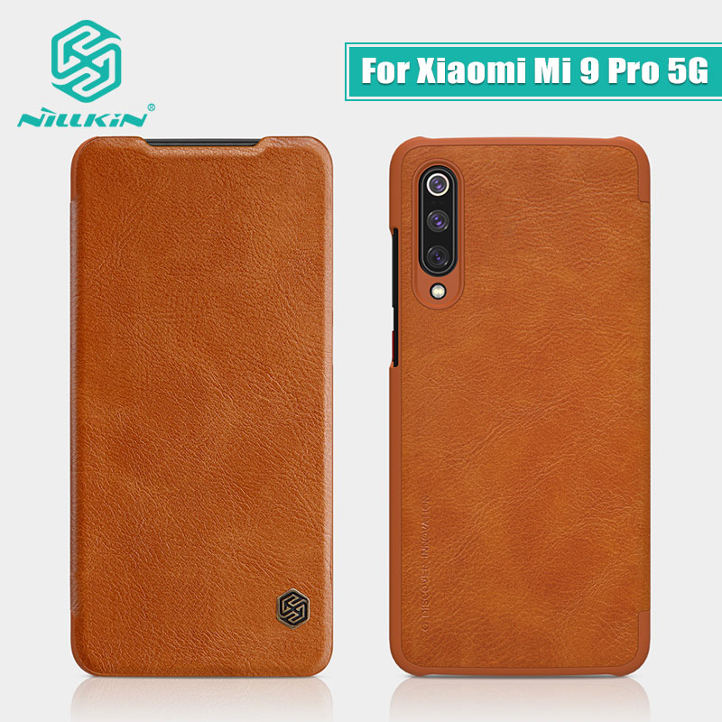 For <font><b>Xiaomi</b></font> <font><b>Mi</b></font> <font><b>9</b></font> Pro 5G <font><b>Case</b></font> NILLKIN Vintage Qin <font><b>Flip</b></font> Cover <font><b>wallet</b></font> PU leather PC back cover For <font><b>Mi</b></font> <font><b>9</b></font> Pro 5g global version <font><b>case</b></font> image