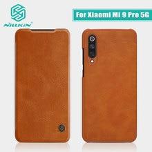 สำหรับ Xiao Mi Mi 9 Pro 5G กรณี NILLKIN VINTAGE Qin Flip กระเป๋าสตางค์ PU หนัง PC ปกหลังสำหรับ Mi 9 Pro 5G Global รุ่น
