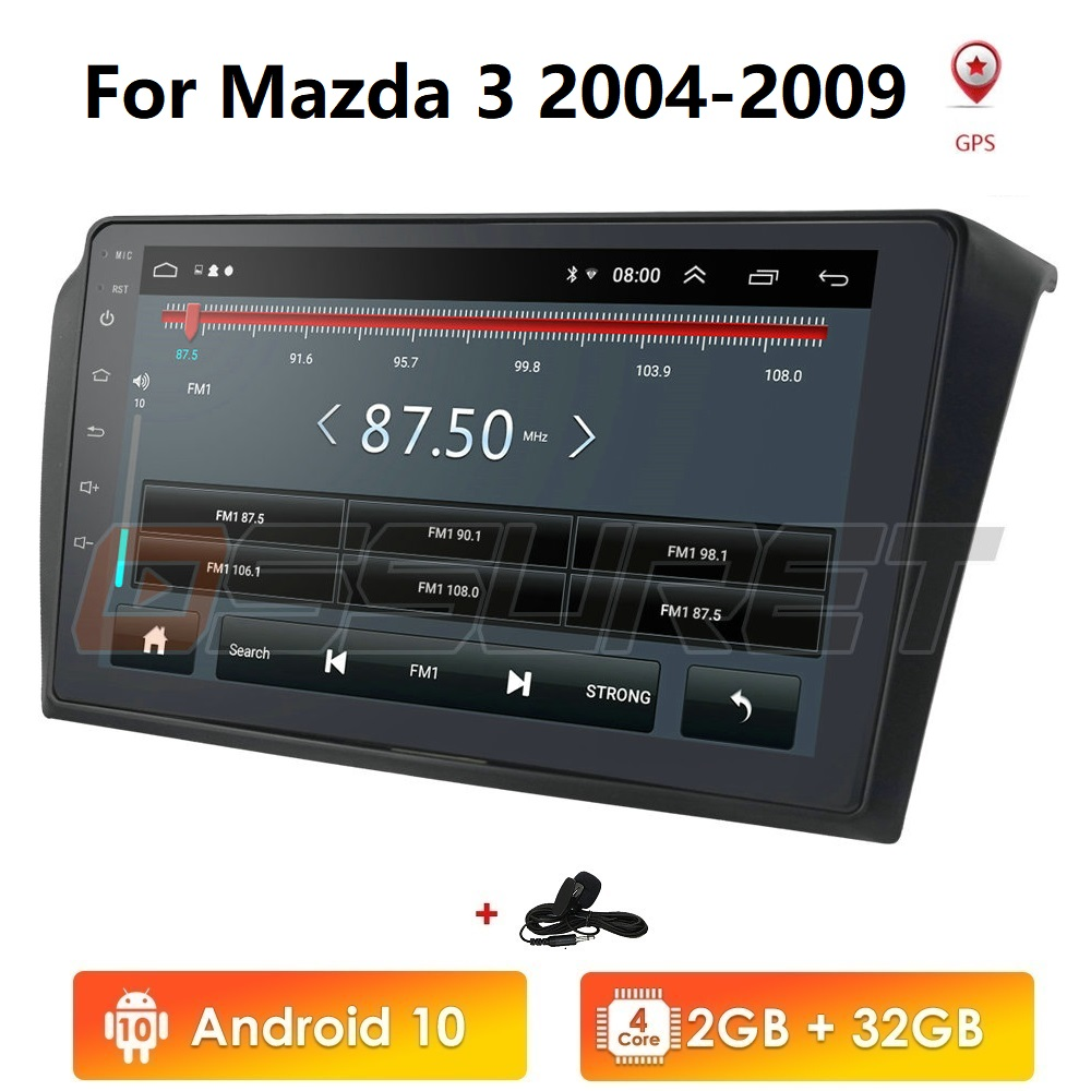 Android 10 2G 32G Car Radio For <font><b>Mazda</b></font> <font><b>3</b></font> 2004-2009 Wifi Auto Stereo car dvd <font><b>gps</b></font> <font><b>Navigation</b></font> stereo Multimedia Player Mic Canbus image