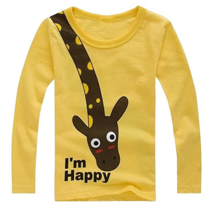 למעלה T חולצה לילד, הדפסת ילדי אביב סתיו ילדי חולצת טי כותנה ארוך שרוול בנות חולצת טי קריקטורה תינוק חולצות