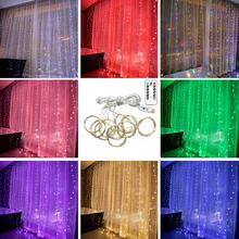 USB Remote Control 8 Functions Copper Wire String Lights Curtain Lights 300 Lights Home Party Decoration Warm String Lights(China)