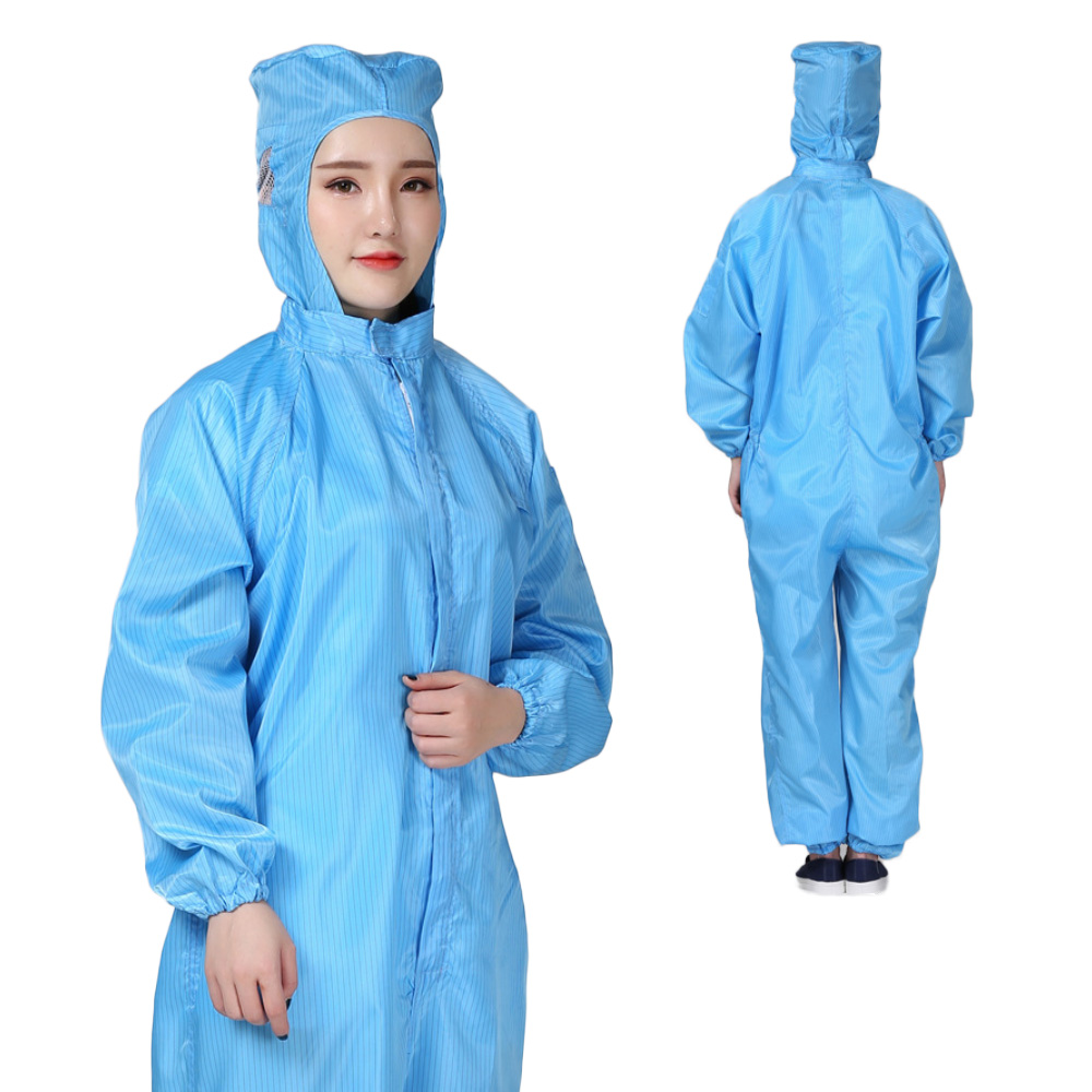Hooded Coverall Suit Painting Dust Safety Suit Chemical Protective Dust-proof Clothing Oil-Resistant Workwear
