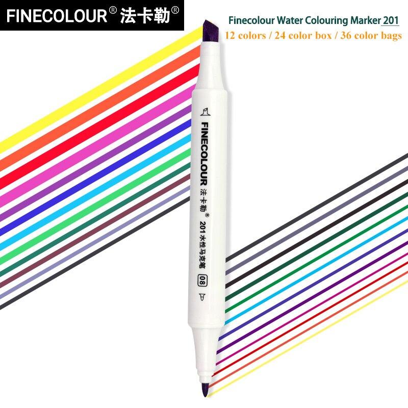 finecolour ef201 12 24 36 cores marcadores 04