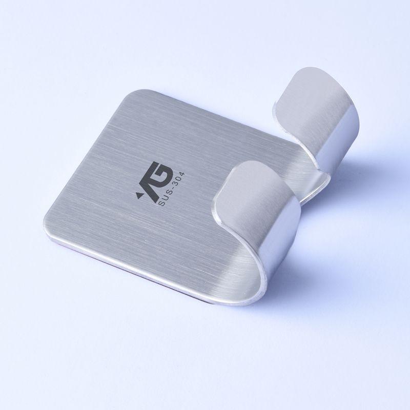 Towel Bathroom for Kitchen Office Key-Rack Han Power-Plug-Line Double-Hooks Self-Adhesive