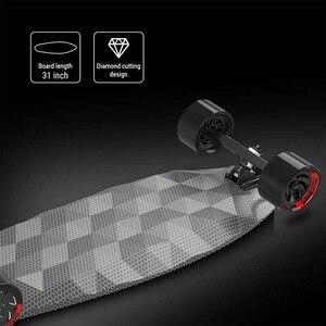 Image 3 - لوح تزلج كهربائي متعدد الوظائف الكبح التزلج أربع عجلات القيادة Longboard بلوتوث بعيد مقاوم للماء لوح تزلُّج