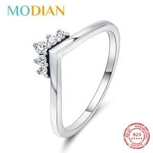 Modian 2020 Heißer 100% 925 Sterling Silber Funkelnden Stapelbar Finger Ringe Für Frauen Mode Original Weihnachten Geschenk Schmuck