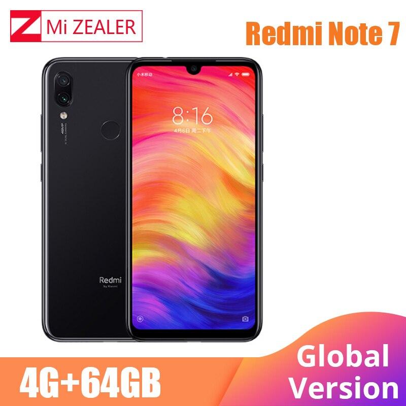 Global Version Xiaomi Redmi Note 7 4GB 64GB Mobile Phone Snapdragon 660 Octa Core 4000mAh 48MP 5MP Dual Cameras 6.3