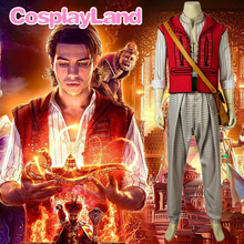 Movie Aladdin Costume Cosplay Halloween Costumes Prince Mena Massoud Outfit Suit For Adult Men Custom Made