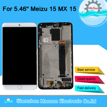 "Original M&Sen 5.46"" For Meizu 15 MX 15 MX15 M881Q C  Snapdragon 660 Super AMOLED LCD Screen Display+Touch Panel Digitizer Frame"