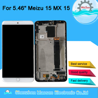 Original M&Sen For 5.46 Meizu 15 MX 15 MX15 M881Q C Snapdragon 660 Super AMOLED LCD Screen Display+Touch Panel Digitizer Frame