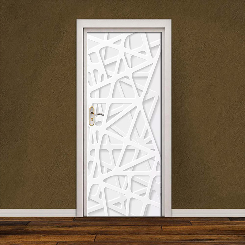 DIY Renovation Paste Waterproof Self Simple Style Adhesive PVC Mural Paper Bedroom Door Sticker Prints Pictures New Home Decor
