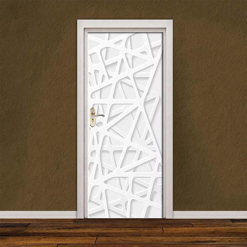 DIY Renovation Paste Waterproof Self Simple Style Adhesive PVC Mural Paper Bedroom Door Sticker Prints Pictures New Home Decor