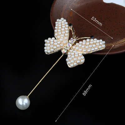 1pc Ladies Art Pearl Fabric Flower Brooch Pin Cardigan Shirt Shawl Brooches Professional Coat Badge Jewelry Accessories