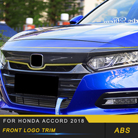 Front Logo Trim Frame Cover Front Hood Trim Exterior Accessories for Honda Accord 2018