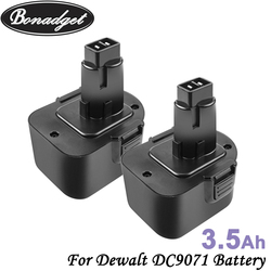 Bonadget 12V 3500mah NI-MH Rechargeable DC9071 For Dewalt DC9071 DW9071 DE9037 DE9071 DE9072 DE9074 DE9075 Power Tool Battery
