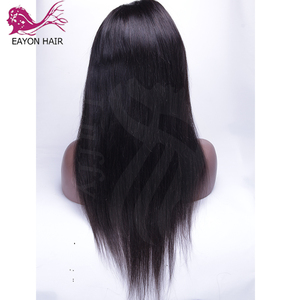 Image 3 - EAYON Peluca de cabello humano con encaje completo prearrancado, pelo de bebé liso sedoso, pelucas de cabello Remy peruano, nudos blanqueados, densidad del 130