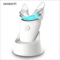 TDOUBEAUTY M 56 Home Hand Held Professional Tooth Bleaching Device Blue Mini With LED teeth whitening kit Free Gel Free Shipping